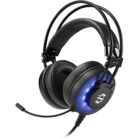 Sharkoon Skiller SGH2 Stereo Headset, Usb, Blue Led, Nero