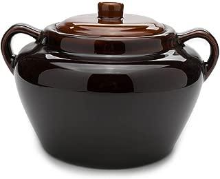 Fox Run 0350COM 0350 Stoneware Bean Pot, 9.75 inches, Brown