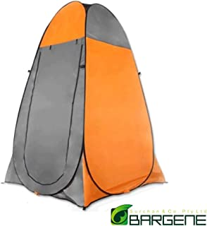 Pop Up Camping Shower Toilet Tent Outdoor Privacy Portable Change Room Shelter Orange