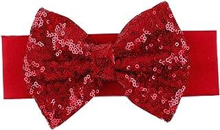 red glitter baby headband