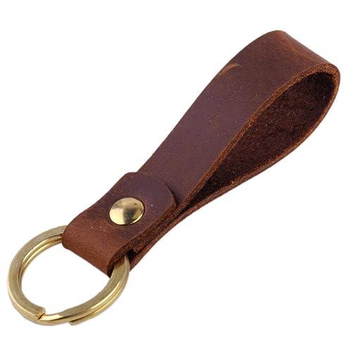 Brand New Mens Fashion Luxury Soft Leather Belt Car Keychain