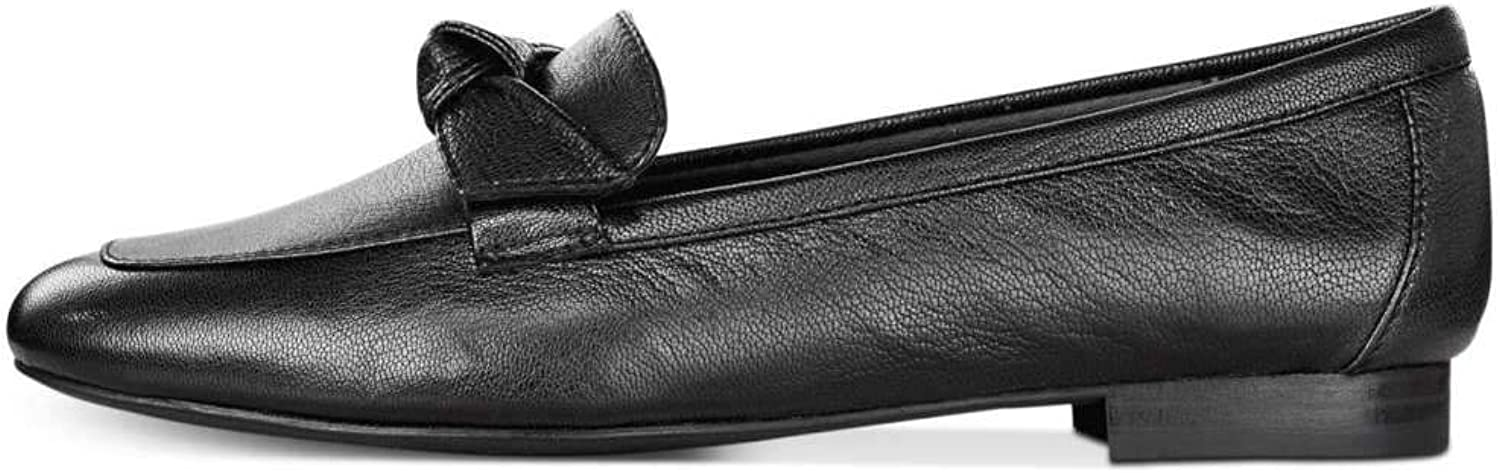 Alfani Womens Cass Leather Almond Toe Loafers