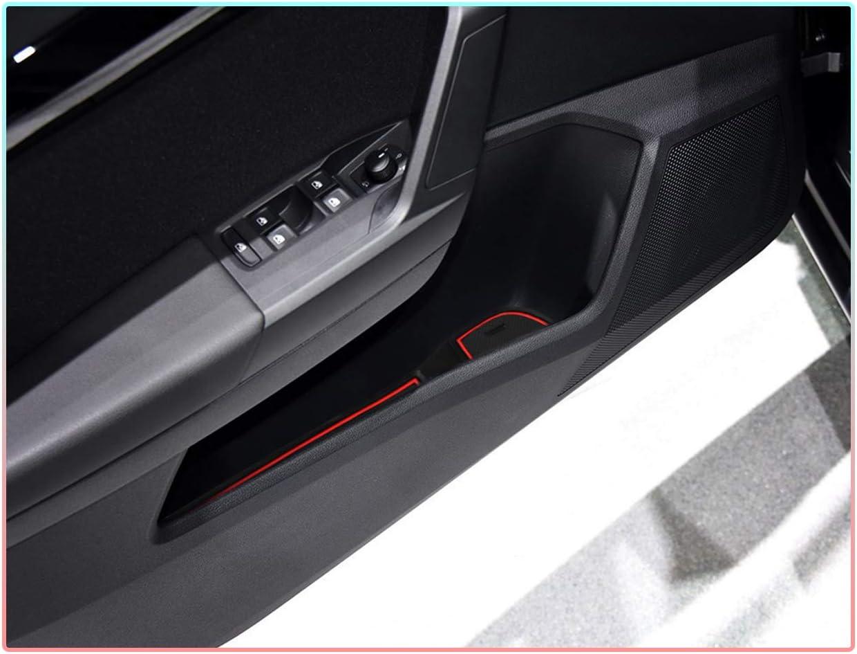 CDEFG Tappetino Antiscivolo per Seat Ibiza//Arona Antipolvere Tappetini in Gommaper per Interni Auto Nero
