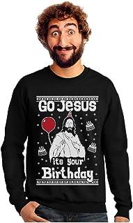 Go Jesus it's Your Birthday Ugly Christmas Sweater Men's Sweatshirt