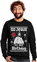 Tstars Go Jesus It's Your Birthday Ugly Christmas Sweater Style Men's Sweatshirt