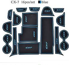 16pcsset for Mazda CX-7 CX7 CX 7 Car Accessories, Auto 3D Rubber Mat Non-Slip Interior Cup Pad Door Groove Mat car Styling