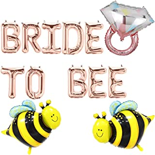 Bride To Bee Balloons, Bride To Be Party Banner, Bridal Shower Engagement Bachelorette Diamond Ring Bumble Bee Wedding Party Supplies Decorations