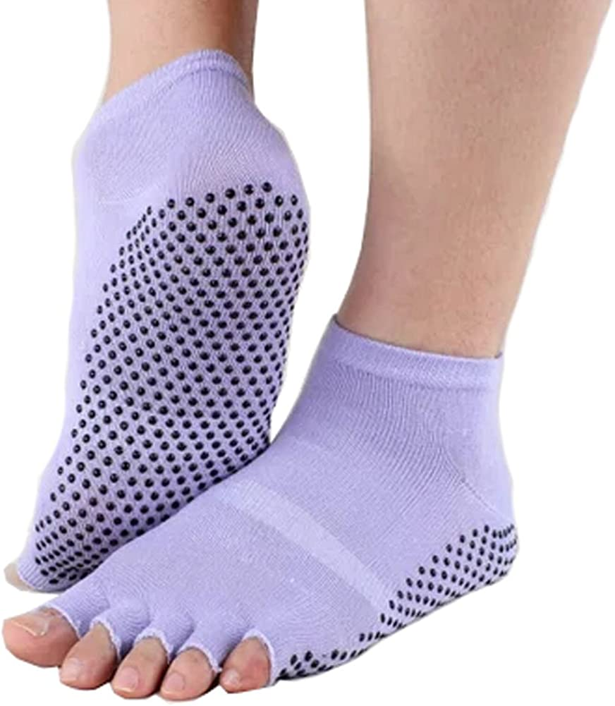 Phoenix Max latest 62% OFF Wonder Pure Women's Non Slip Yoga Socks Half Cotton Toe