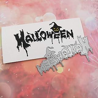 Fogun Halloween Matériel Dies de decoupe Scrapbooking, DIY Album de Scrapbooking Outil de Gaufrage Décoration Papier Carte...