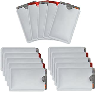 Owfeel RFID Blocking Secure Credit Card Sleeves Pack Of 15 Contactless Card Protection..