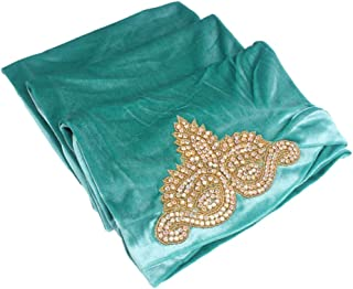 Xiang Ru Women Muslim Turban Head Wrap Scarf Long Tail Hat Hijib - Velvet Diamond 170x26cm - Slouchy Baggy India Africa Bandana Headwear Cancer Chemo Cap