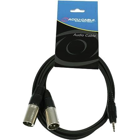 Accu Cable AC-J3S-2XM - Cable para altavoz XLR a mini jack TS (3.5 mm, macho, 1.5 m), negro