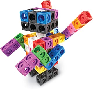 Learning Resources MathLink Cube Big Builders, Imaginative Play, Math Skills, Set of 200 Cubes, Ages 5+