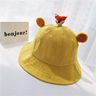 SHENTIANWEI Ms. Autumn and Winter hat Fisherman hat Cute Cartoon Animal Yellow Grass Paternity of Children pots hat Female Winter 2019 (Color : Yellow Little Fox, Size : One Size)