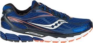 Saucony Men's Ride 8 Running Shoe (Midnight/Black/Orange, 9 D(M) US)