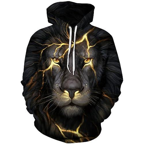 e75560a6526c OYABEAUTY Unisex Realistic 3D Print Galaxy Pullover Hoodie Hooded Sweatshirt