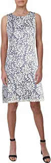 Womens Sleeveless Floral Print Party Dress