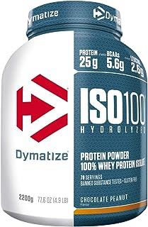 comprar comparacion Dymatize ISO 100 Chocolate Peanut 2,2kg - Hidrolizado de Proteína de Suero Whey + Aislado en Polvo