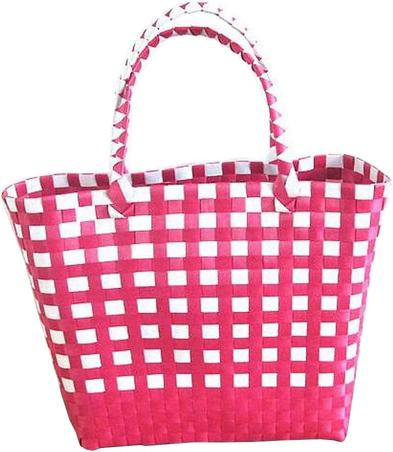 24station Retro New life Woven Shopping Basket Bask Bag Quality inspection Shower Tote