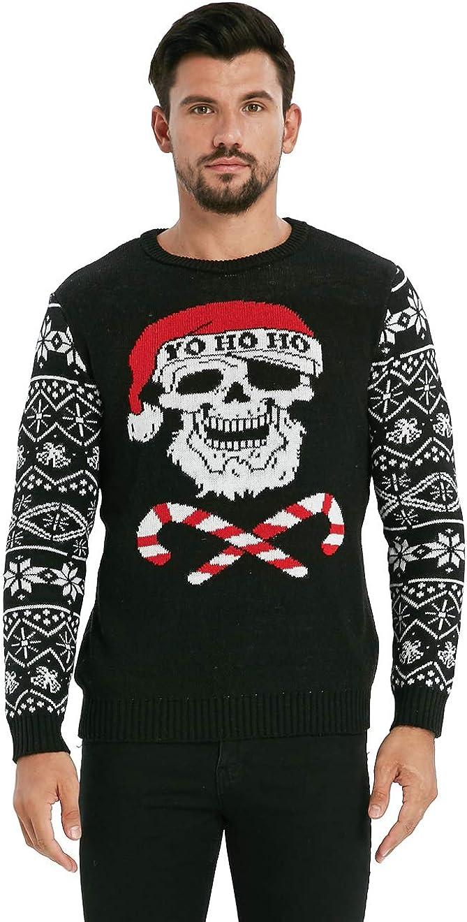 VENTELAN Men's Ugly Christmas Sweater Crew Santa Special price Max 62% OFF Funny Xmas Neck