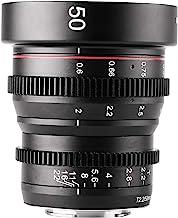 Meike 50mm T2.2 Mini Manual Focus Wide-Angle Cinema Lens for M43 Micro Four Thirds MFT Mount Cameras BMPCC 4K Z CAM E2