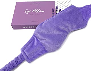 Weighted Lavender Eye Mask for Sleeping, Yoga, Dry Eyes, Headache, Migraine Relief - Great Relaxation Gifts for Mom, Dad, ...