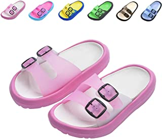 1fb1016dfa04 Toddler Little Kids Summer Sandals Non-Slip Boy Girl Slide Lightweight  Beach Water Shoes Shower