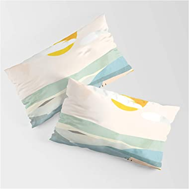 Society6 Tuscany Italy Landscape Abstract Art by Ana Rut BRE Fine Art on King Size Pillow Sham - King Set of