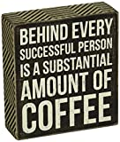 Primitives by Kathy Box Sign, 5 x 5.5-Inch, Amount of Coffee