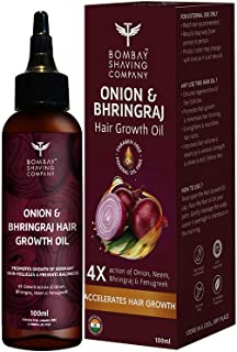 Bombay Shaving Company Onion and Bhringraj Hair Oil With 4X Growth Action -| 100 ml