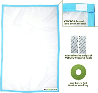 Sheer Fun For Cats,  Interactive cat Toy,  Made in USA,  Stimulate Hunting Instincts for Your cat,  Versatile,  Quiet,  Crinkle Edges,  Cats,  Kittens,  playmat,  Bed,  Hide and Seek,  Blue and White,  32x18