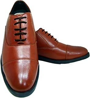 ASM Police Tan Oxford Dress Uniform Shoes with TPR (Thermo Plastic Rubber) Sole, Comfortable Foot pad for Optimum Comfort for Men. Article 106POS UK/India 5 to 15