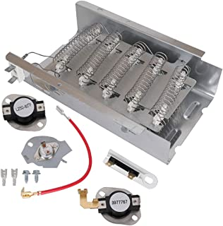 279838 Dryer Heating Element 279816 3977767 3392519 Thermal Fuse & Thermostat Cutoff Kit 5400W 240V for Whirlpool Kenmore Maytag Replaces # 3403585 279837 8565582 3398064 AP3094254 W10724237