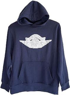 Nike Air Jordan Wings Logo Big Boys Pullover Hoodie Navy Blue