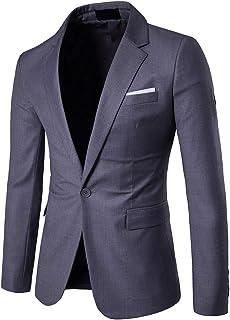 Sponsored Ad - Men's Suit Jacket One Button Slim Fit Sport Coat Business Daily Blazer