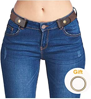 No Buckle Stretch Belts for Men and Women, Super Comfortable Invisible Belts for Jeans
