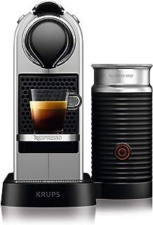 comprar comparacion Krups Nespresso CitiZ&Milk XN761B - Cafetera Monodosis Cápsulas, 19 bares, Depósito Agua 1 L, Apagado Automático, Acero, c...