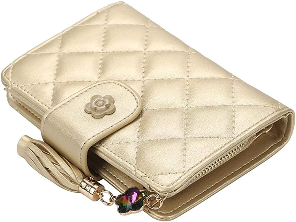 Weekly update Year-end gift Women Bifold Leather Wallet Nlocking Win Card With Holder Ladies