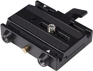 Manfrotto 577 - Adaptador para Zapata Deslizante (Plato de cámara 501PL), Color Negro