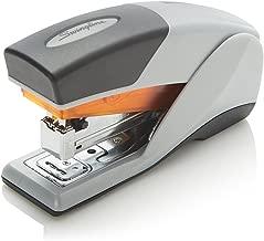 Swingline Stapler, Optima 25, Compact Desktop Stapler, 25 Sheet Capacity, Reduced Effort, Orange/Gray (66412)