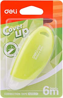 deli EH20001 Correction Tape- Excellent covering power, Assorted Colors, 1 unit