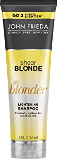 John Frieda Shampoo Sheer Blonde Go Blonder Lightening 8.3 Ounce (245ml) (2 Pack)