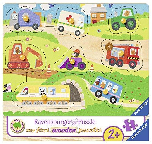Ravensburger Kinderpuzzle 03684 - Lieblingsfahrzeuge - 10 Teile Holzpuzzle