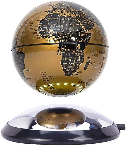HUYYB Schwebender Globus, 6-Zoll-Anti-Schwerkraft-Globus 360 Auto Home Office-Schreibtischdekoration,Gold