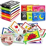 teytoy 6 Stück Kinder Fotoalbum, Baby Fotobuch zum Entdecken, Forschen & Fühlen – Soft Bilderbuch Baby Spielzeug ab 0 3 6 Monate, Bunt