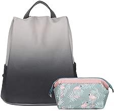 Women Cute Fashion Backpack Purse Nylon PU Casual Daypack Anti-theft Travel Bag