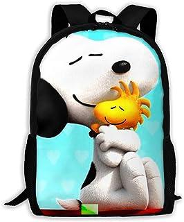 Custom Snoopy Hugging Woodstock Casual Backpack School Bag Travel Daypack Gift