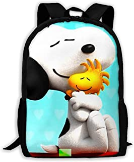 Custom Snoopy Hugging Woodstock Casual Backpack School Bag Travel Daypack Gift