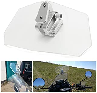 【HOZAN照明】オートバイ汎用 気流調整可能なボルトオン 可変ウインドスクリーン スポイラー 1年間保証付き (透明)