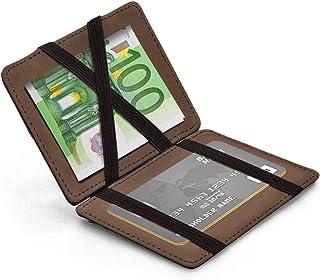 Billetera para Hombre Billetera Elegante de Cuero Genuino